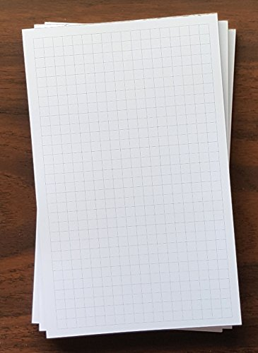 "3 Pads - Graph Note Pad, 5"" x 8"", 50 Sheets, 1/4"" Grid Spacing, Heavyweight Paper"