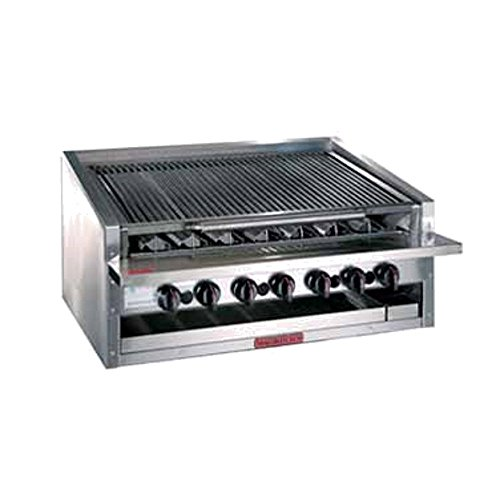 MagiKitch'N APM-RMB-672CR 72'' Countertop Gas Radiant Charbroiler by MagiKitch'N