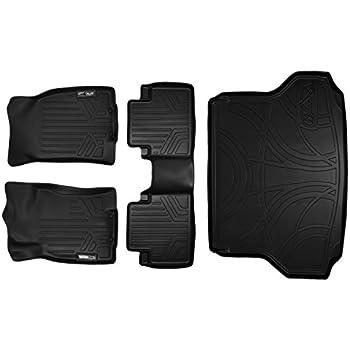 Amazon Com Smartliner Floor Mats 2 Row Liner Set Black
