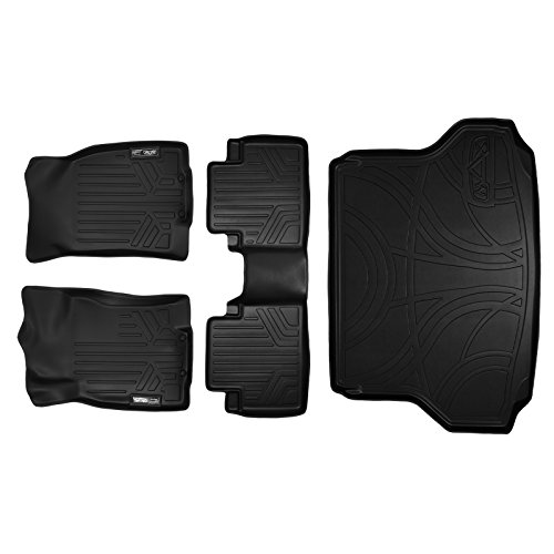 - MAX LINER A0151/B0151/D0151 Custom Fit Floor Mats and Cargo Liner Set Black for 2014-2019 Nissan Rogue Without 3rd Row Seats