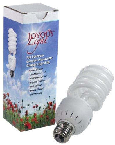 ALZO 27W Joyous Light Full Spectrum CFL Light Bulb 5500K, 1300 Lumens, (Light Therapy Bulb)