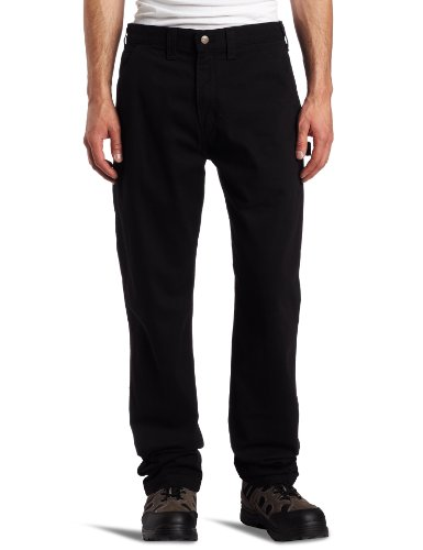 (Carhartt Men's Washed Twill Dungaree Relaxed Fit,Black,34 x 30)