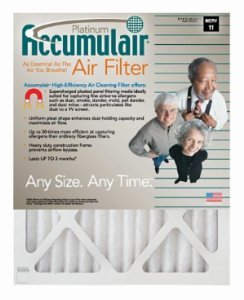 19x21x1 (Actual Size) Accumulair Platinum Filter MERV 11 4-Pack