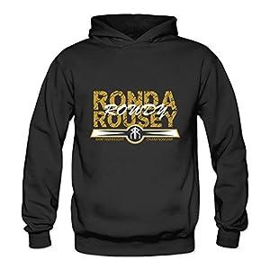 HUBA Women's Hooded Sweatshirt Ronda Rousey 1 Black Size M