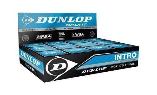 Dunlop Intro Beginner Players Squash Ball Entry Level Game Racketball Box Of 12 (Dunlop Sporting Goods)
