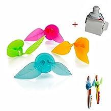 GOOTRADES 4 Pcs Leaf Shaped Multifunctional Toothbrush Razor Holder Plus Toothpaste Dispenser