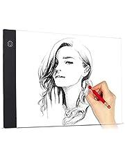 Domary Tamanho A4 Ultra-fino LED Light Pad Box Pintura Painel de Rastreamento Copyboard USB Powered Constant Brightness for Cartoon Tattoo Tracing Desenho a Lápis