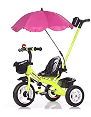 Toddler Tricycle Push Bike – Easy Steer Toddler Tricycle for 1-5 Years Old Kids Trike with Safety Seat, Storage Basket, Foot Pedals