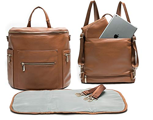 Leather Diaper Bag Backpack by...