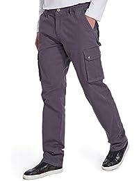 Men's Relaxed Fit Elastic Cargo Pant, Mens Pockets Cotton Tactical Pants