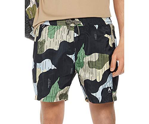 Scotch & Soda Men's Camouflage-Print Swim Trunks (Navy Camo, -