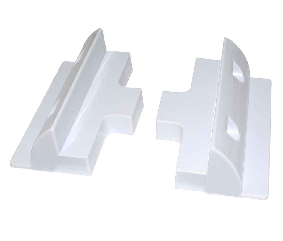 Juego de 6 piezas de soporte de montaje de panel solar blanco rectangular para caravanas, autocaravanas, barcos y cualquier superficie plana: Amazon.es: ...