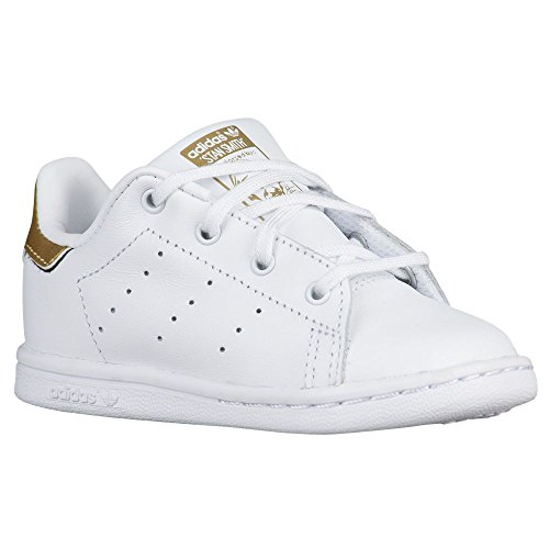 pretty nice 7e0ff 60869 adidas Originals Boys' Stan Smith I Sneaker, White Metallic/Gold, 4 M US  Toddler