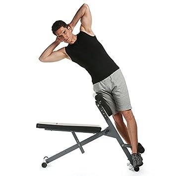 Ajustable AB banco de espalda Hyperextension ejercicio Abdominal romano silla, Type3: Amazon.es: Deportes y aire libre