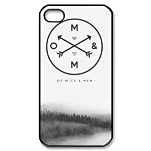 Simple Joy Phone Case, Of Mice and Men Hard Plastic Back Cover Case for iphone 4, 4S