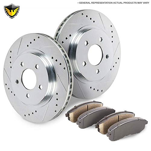 Rear Brake Pads And Rotors Kit For BMW M3 E36 & Z3 M - Duralo 153-3288 ()