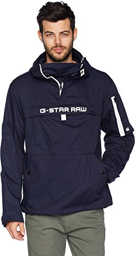G-Star Men's Rackam Hooded Anorak Jacket Sartho Blue for sale  Delivered anywhere in USA