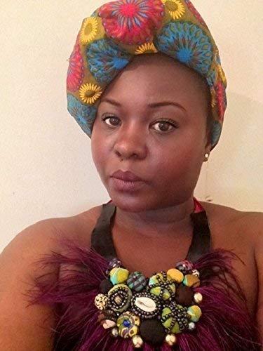 Dalia Turban africain en wax- Hijab de qualité supérieure - foulard tissus africain- foulard turban bandeau musulman