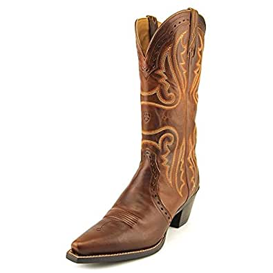 Ariat Women's Heritage Western Cowgirl Boot Snip Toe Caramel 7 M US
