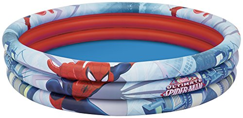 Price comparison product image Marvel Bestway Spiderman Three Ring Inflatalbe Paddling Pool - 60 x 12 Inches