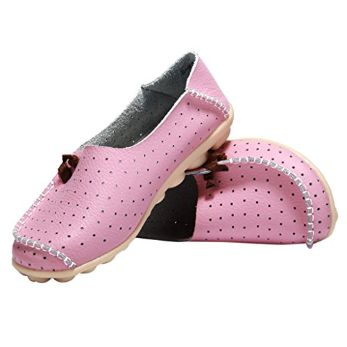 Dameslederen Slip-on Dameslederen Loafers Optimale Prijs Bootschoenen Roze