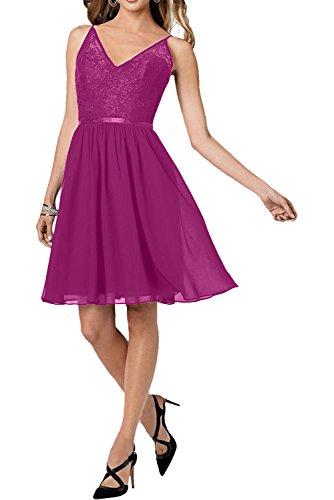 V mia Damen Traube Traeger mit Abendkleider Pink Neu La Tanzenkleider Cocktailkleider Abiballkleider ausschnitt Braut wITqFEExd