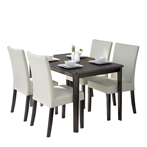CorLiving 5 Piece DRG-695-Z3 Atwood Dining Set with Leathere