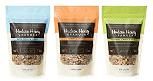 Hudson Henry Granola Variety Pack- Maple Pecans & Coconut- Cashews & Coconut- Pistachios, Almonds & Coconut 12oz, Pack of 3