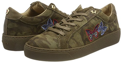 Femme camo Tommy Vert 12z Hilfiger Sneakers S1285uzie Lo Basses xFvwT7