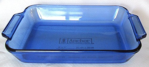 Anchor Hocking Cobalt Blue 2 Qt Baking Dish 8 X 11