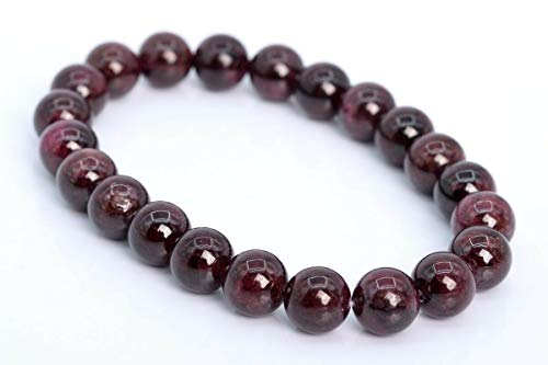 """8MM Wine Red Garnet Bracelet Grade AAA Genuine Natural Round Gemstone Beads 7"""", Beading, Jewelry Making, DIY Crafting, Arts & Sewing by Perfect Beeds Store"""