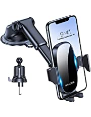 Miracase 4-in-1 Cell Phone Holder for Car, Universal Car Phone Holder Mount for Dashboard Air Vent Windshield Compatible with iPhone 13 Series/iPhone 12 Series/11/XR/Samsung and All Phones