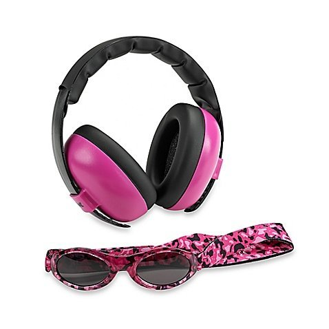 Baby Banz Earmuffs and Infant Hearing Protection and Sunglasses Combo 0-2 Years, - Newborns For Sunglasses