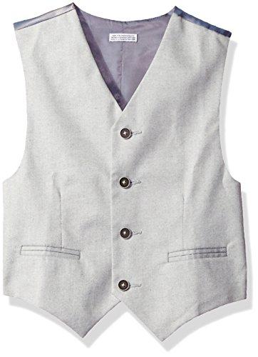 Calvin Klein Big Boys' Tick Weave Vest, Light Grey, MED