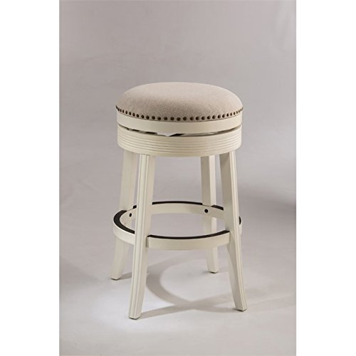 Hillsdale Furniture Backless Swivel Counter Stool in White Finish