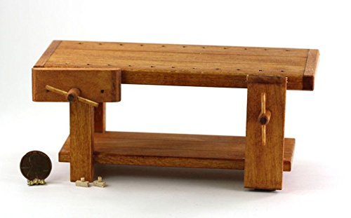 Dollhouse Miniature 1:12 Scale Woodworker039;s Bench by Sir Thomas Thumb by Dollhouse Miniature