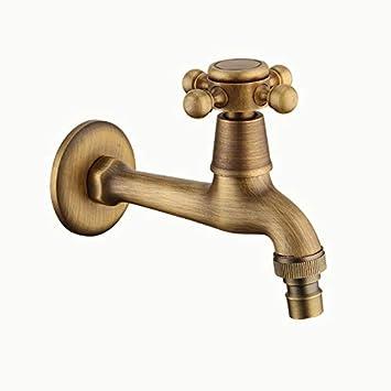 Grifo de pared vintage de agua fría para baño lavatorio fregadero ...