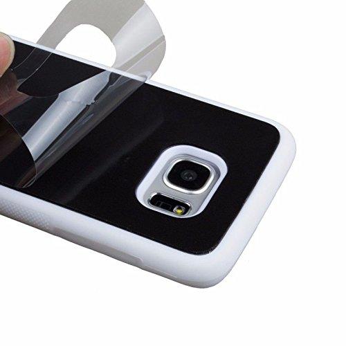 Coque Anti-gravité pour IPhone 7, anti-gravité nano-collant magique du portable, couleur Noir Contour Blanc