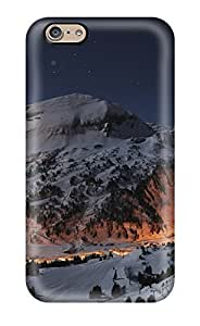 Iphone Case - Tpu Case Protective For Iphone 6- Sunsets On Cold Mountains