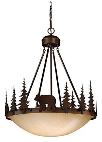 Vaxcel PD55724BBZ 4 Light Bozeman Bowl Large Pendant, Burnished