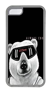 Travers-Diy Diy Yourself IMARTCASE iPhone 5C case cover, Funny Bear Always Cool gUOczlnulh2 case cover for Apple iPhone 5C 9onVVkNCFKz - White