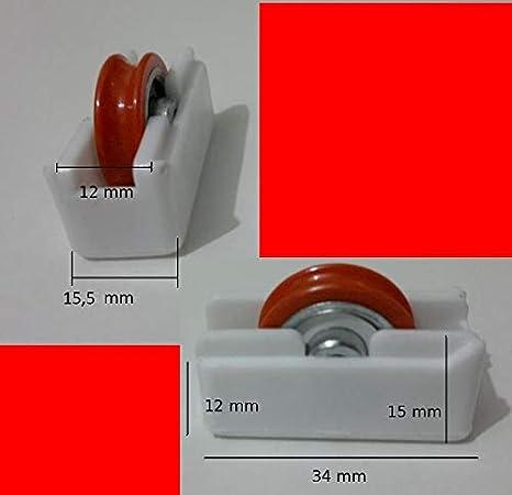 Micel O Similar 1 Rueda O Rodamiento para Ventana P1 Blanca: Amazon.es: Hogar