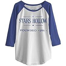 Ripple Junction Gilmore Girls Vintage Stars Hollow Junior Baseball Raglan 3/4 Sleeve