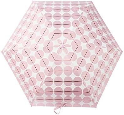 Color : B WMS Parasol Mini Foldable Umbrella Sun Umbrella Striped 5 Fold Pocket Sun Protection Umbrella