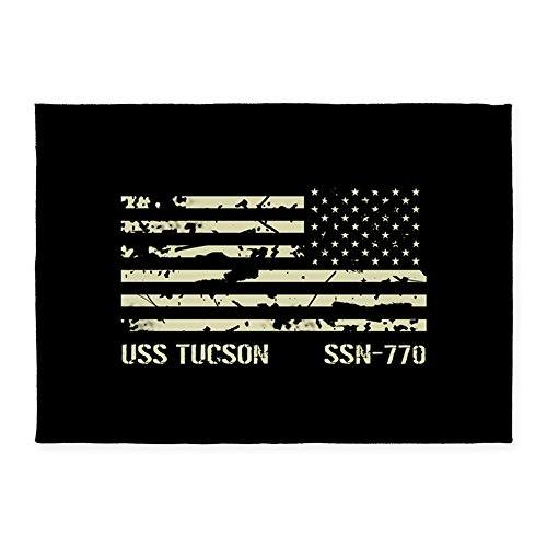 CafePress - USS Tucson - Decorative Area Rug, 5'x7' Throw Rug (Tucson Furniture Custom)