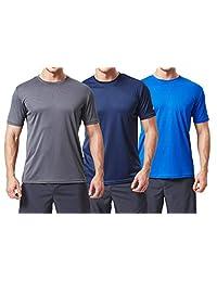TEXFIT Men's 3 Pack Active Sport Quick Dry T-Shirts (3 pcs Set)