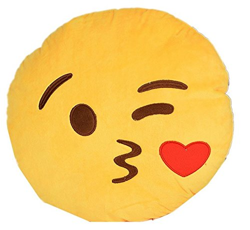 Etosell Novelty Lovely Plush Emoji Pillows Round Cartoon Cushion Stuffed Plush Toy Doll