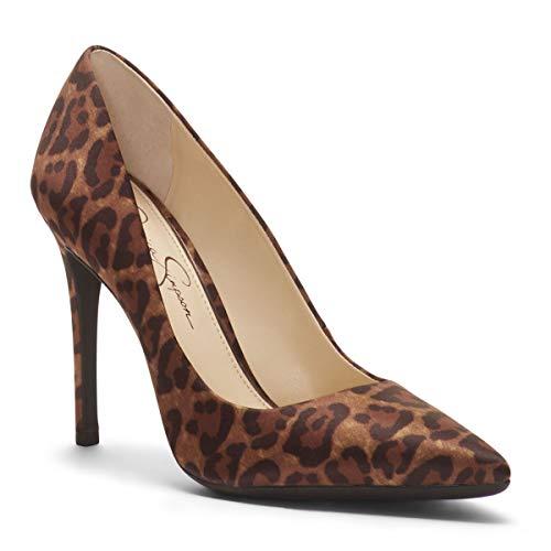 Jessica Simpson Womens Praylee Pump (6 M US, Natural Alicia Leopard Print Satin) ()