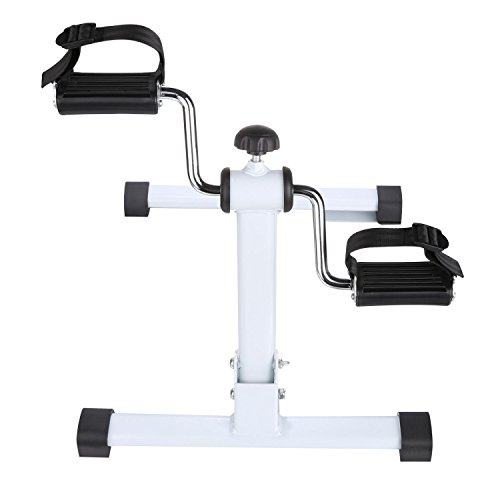 Anfan Pedal Exerciser Physical Therapy Pedal Mini Exercise Bike With Adjustable Resistance (US Stock) (Side)