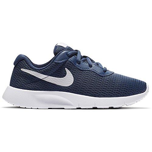 Nike Boy's Tanjun Shoe Navy/Vast Grey/White Size 10.5 Kids US